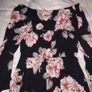 Off the shoulder dress with floral prints
